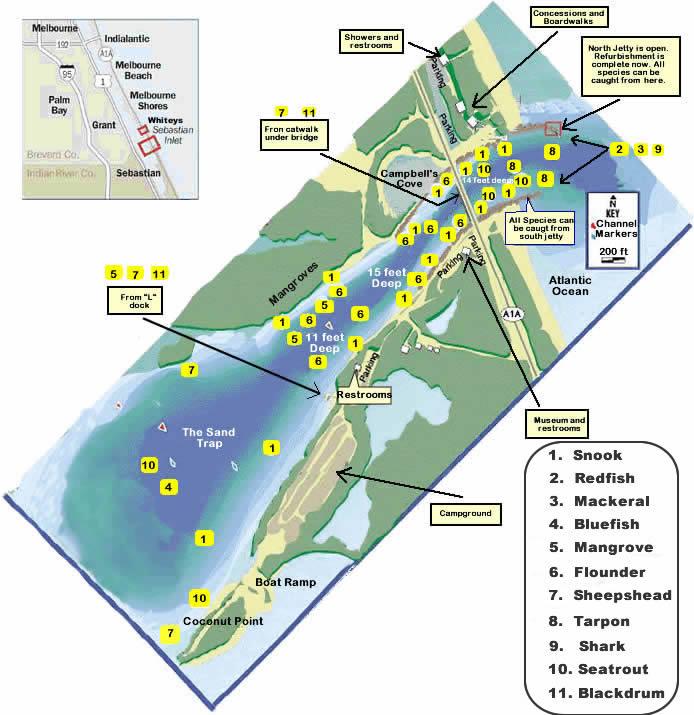 Map Of Sebastian Florida.Sebastian Inlet Florida
